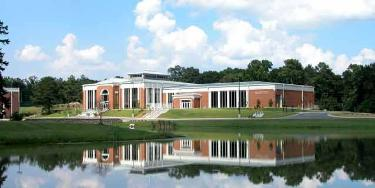 View of Central Alabama Community College across a body of water