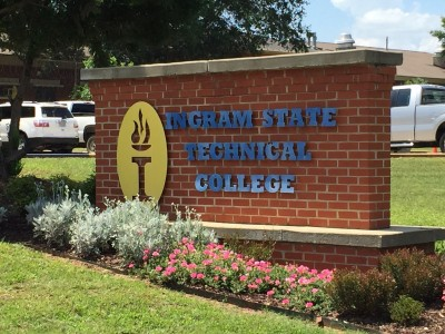 "Brick sign that reads ""Ingram State Technical College"""