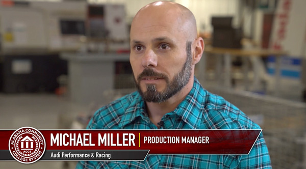 Michael Miller, production manager, Audi performance and racing