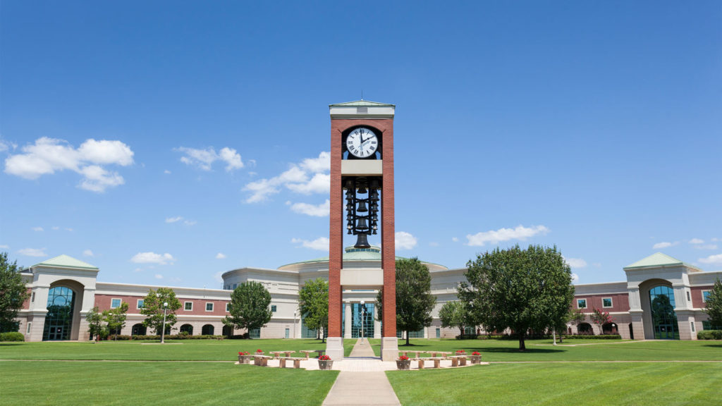 Clocktower on Shelton State campus, one of 24 community colleges in Alabama.